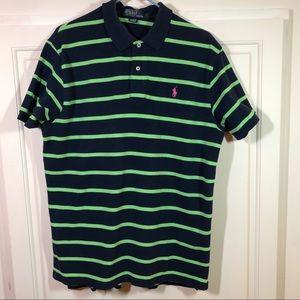 Polo by Ralph Lauren Navy Green SS Shirt Sz L